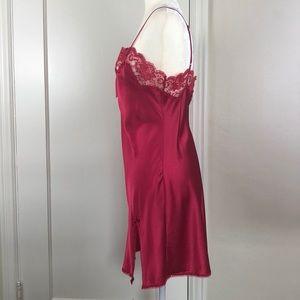 Victoria's Secret Intimates & Sleepwear - Victoria's Secret Angels sexy red lace satin slip
